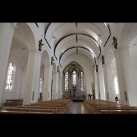 Rottenburg, Dom St. Martin, Hauptschiff in Richtung Chor