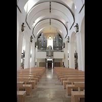 Rottenburg, Dom St. Martin, Hauptschiff in Richtung Orgel