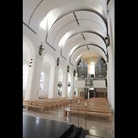Rottenburg, Dom St. Martin, Innenraum mit Hauptorgel