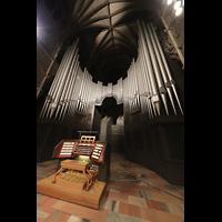 Trondheim, Nidarosdomen (Wagner-Orgel), Hauptorgel mit Spieltisch seitlich