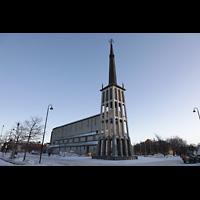 Bodø (Bodo), Domkirke, Außenansicht im Winter