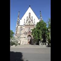 Leipzig, Thomaskirche - Bachorgel, Westfassade
