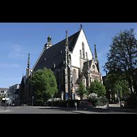 Leipzig, Thomaskirche - Bachorgel, Außenansicht schräg von hinten