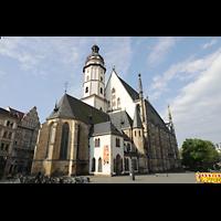 Leipzig, Thomaskirche - Bachorgel, Außenansicht schräg von vorne