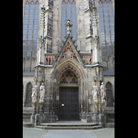 Leipzig, Thomaskirche - Bachorgel, Apostel-Portal