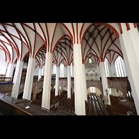 Leipzig, Thomaskirche - Bachorgel, Blick von der Südempore zu den beiden Orgeln