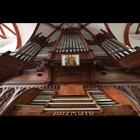 Leipzig, Thomaskirche - Bachorgel, Sauer-Orgel mit Spieltisch