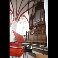 Leipzig, Thomaskirche - Bachorgel, Orgelpositiv und große Orgel