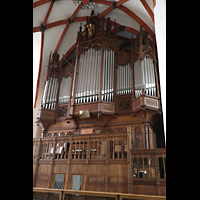 Leipzig, Thomaskirche - Bachorgel, Sauer-Orgel seitlich