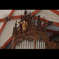 Leipzig, Thomaskirche - Bachorgel, Proepsktdetail der Sauer-Orgel