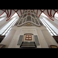 Leipzig, Thomaskirche - Bachorgel, Bach-Orgel mit Spieltisch