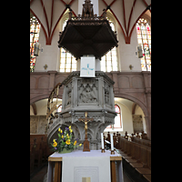 Leipzig, Thomaskirche - Bachorgel, Kanzel