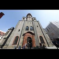 Leipzig, Nikolaikirche, Fassade mit Turm
