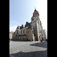 Leipzig, Nikolaikirche, Außenansicht seitlich mit Nikolaiplatz