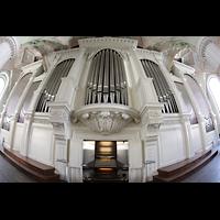 Leipzig, Nikolaikirche, Orgel mit Spieltisch