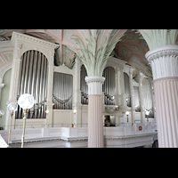 Leipzig, Nikolaikirche, Orgel von der Seitenempore aus gesehen