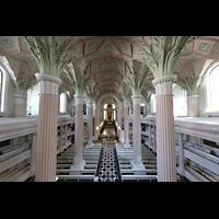 Leipzig, Nikolaikirche, Blick von der Orgelempore in die Kirche