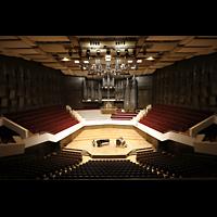 Leipzig, Neues Gewandhaus, Großer Saal mit Orchesterbühne und Orgel
