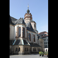 Leipzig, Nikolaikirche, Seitenansicht mit Turm