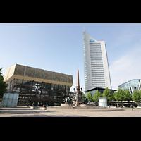 Leipzig, Neues Gewandhaus, Gewandhaus mit Augustusplatz und MDR-Hochhaus