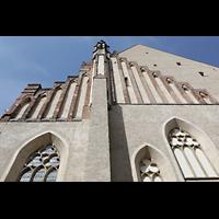 Wittenberg, Stadtkirche, Giebel an der Ostfassade