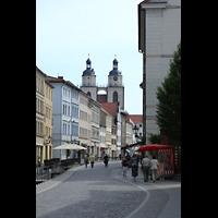 Wittenberg, Stadtkirche, Blick von der Coswiger Straße zur Stadtkirche