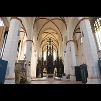 Braunschweig, St. Ulrici Brüdern (Positiv 1), Innenraum in Richtung Lettner und Chor