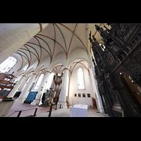 Braunschweig, St. Ulrici Brüdern (Positiv 1), Innenraum in Richtung Orgel mit Lettner