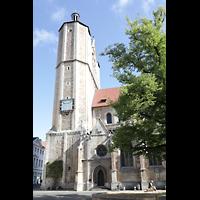 Braunschweig, Dom St. Blasii (Hauptorgel), Südturm mit Sonnenuhr