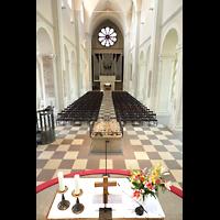 Braunschweig, Dom St. Blasii (Hauptorgel), Innenraum in Richtung Orgel
