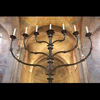 Braunschweig, Dom St. Blasii (Hauptorgel), Siebenarmiger Leuchter aus dem 12. Jahrhundert