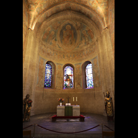 Braunschweig, Dom St. Blasii (Hauptorgel), Chorraum mit Secco-Malereien