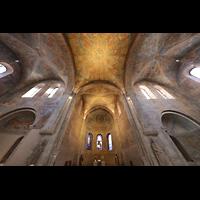 Braunschweig, Dom St. Blasii (Hauptorgel), Secco-Malereien in der Vierung mit Blick zur Orgel