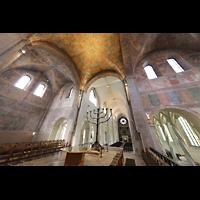 Braunschweig, Dom St. Blasii (Hauptorgel), Secco-Malereien in der Vierung und im Querhaus mit Blick zur Orgel