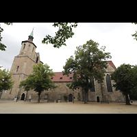 Braunschweig, St. Magni, Außenansicht seitlich von Ölschlägern aus