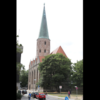 Braunschweig, St. Petri, Außenansicht von der Gördelingerstraße aus