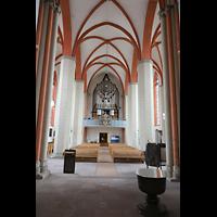 Braunschweig, St. Petri, Hauptschiff in Richtung Orgel