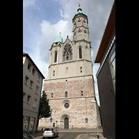 Braunschweig, St. Andreas, Fassade mit Turm, Ansicht von der Weberstraße aus