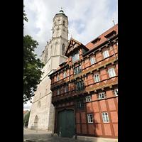 Braunschweig, St. Andreas, Ansicht von Südwesten mit Alter Waage