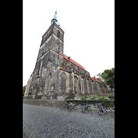 Hildesheim, St. Andreas, Seitenansicht mit Turm von An der Alten Münze aus