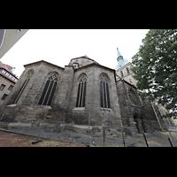 Hildesheim, St. Andreas, Chor von außen vom Andreasplatz aus (Nordseite)