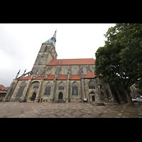 Hildesheim, St. Andreas, Seitenansicht von Süden von An der Alten Münze  aus