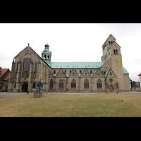 Hildesheim, Mariendom, Seitenansicht vom Domhof (Nordseite)