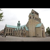 Hildesheim, Mariendom, Ansicht von Nordwesten vom Domhof aus