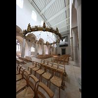 Hildesheim, Mariendom, Hauptschiff seitlich in Richtung Orgel