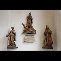 Hildesheim, Mariendom, Immaculata-Altarfiguren aus dem 18. Jahrhundert mit Maria im Zentrum