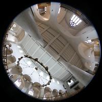 Hildesheim, Mariendom, Gesamtre Innenraum mit Chor- und Hauptorgel