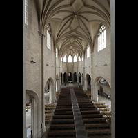 Hildesheim, St. Andreas, Blick von der Orgelempore in die Kirche