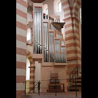 Hildesheim, St. Michaelis, Orgel, Ansicht vom Hauptschiff