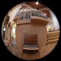 Hildesheim, St. Michaelis, Orgel mit Spieltisch